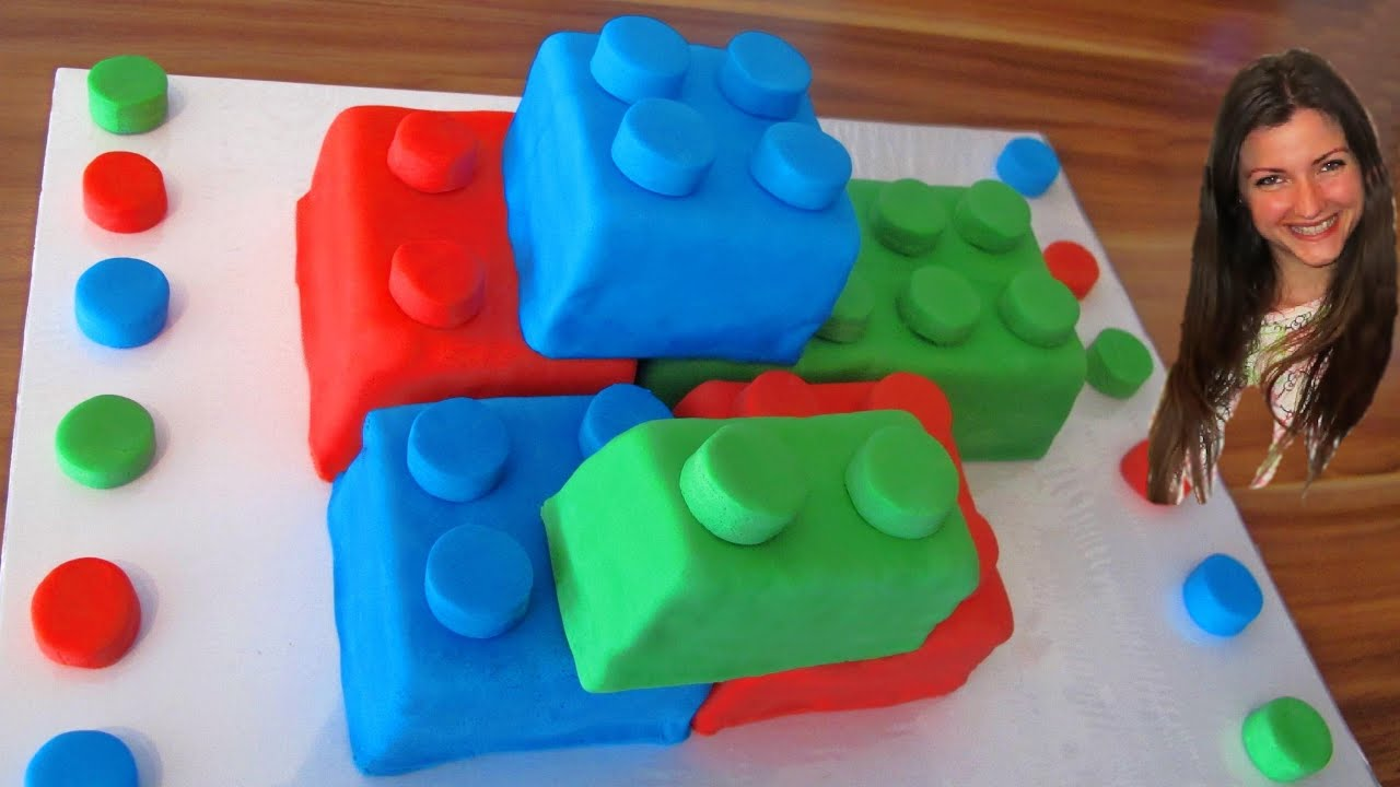 How to make lego cake with fondant