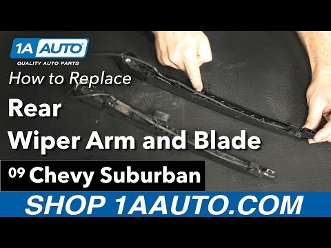 How to Replace Rear Wiper Arm 07-14 Chevy Suburban