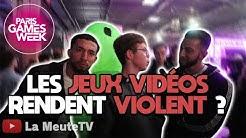 Les Jeux Vidéos rendent VIOLENT ?🤣  Paris Games Week - Micro Trottoir