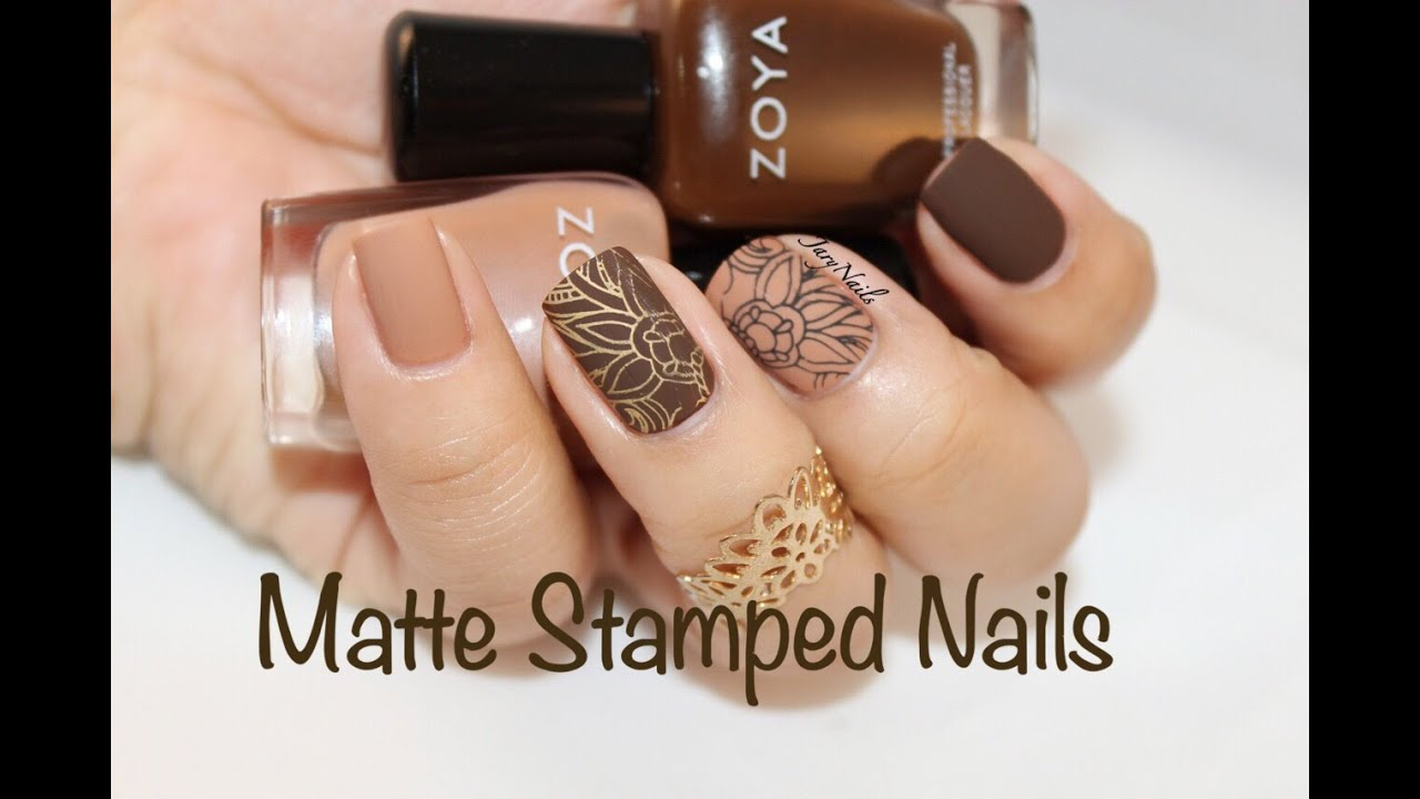 Matte Nails & Stamping - YouTube