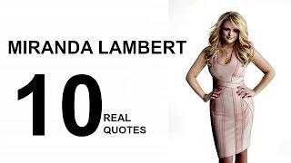 Miranda Lambert 10 Real Life Quotes on Success | Inspiring | Motivational Quotes