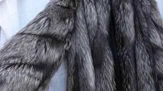 ebay : SILVER FOX FUR Full Length Coat