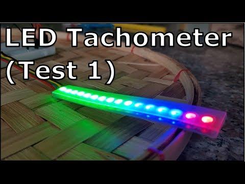 Arduino - LED Tachometer & Shift Light Indicator (Test 01)