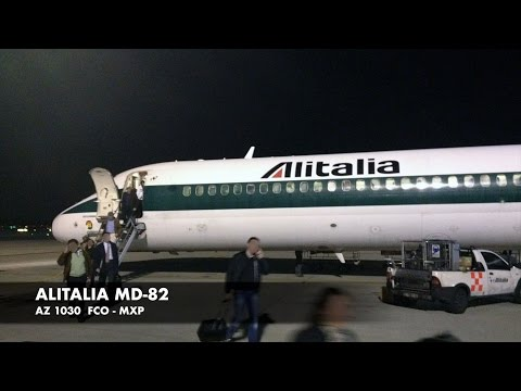"Alitalia MD-82 | Rome FCO ✈ Milan MXP | ""Sorrento"" Business Class 