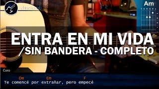 """Cómo tocar """"Entra en mi Vida"""" de Sin Bandera en Guitarra Acústica (HD) Tutorial - Christianvib"""