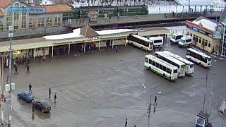 Автобус «протаранил» кассы на автовокзале в Истре
