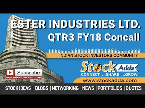 Ester Industries Ltd Investors Conference Call Q3FY18