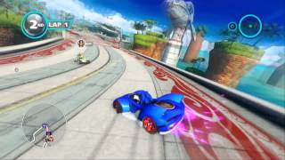 Sonic & All-Stars Racing Transformed (PS3): Ocean View - Expert - Sonic