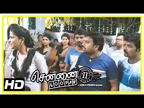Chennai 600028 II Movie Scenes | Jai's marriage cancelled | Friends break up | Shiva  | Premji