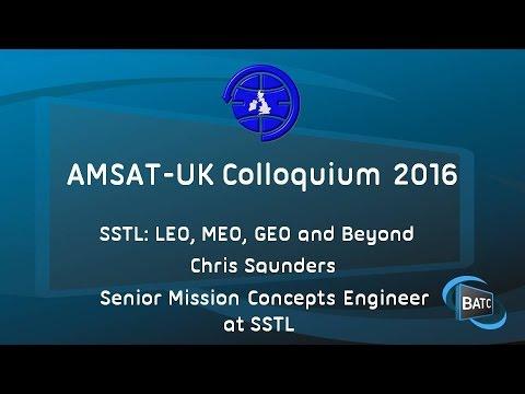 SSTL: LEO, MEO, GEO and Beyond - Chris Saunders