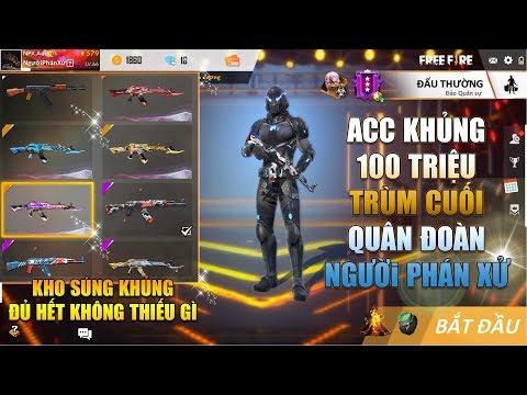 Free Fire | Review Acc Khủng 100 Củ của Trùm Cuối quân đoàn Người Phán Xử | Rikaki Gaming