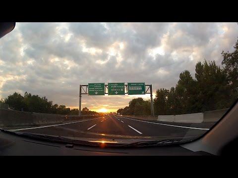 Autostrada A14 (Adriatica) in Emilia-Romagna, Italy (Italia) – onboard camera