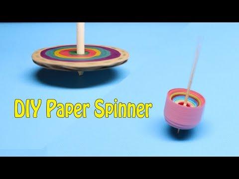 2 cách làm con quay bằng giấy đơn giản - DIY paper spinner - Children's games