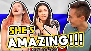 Canadian Girl SPEAKS RUSSIAN For The First Time