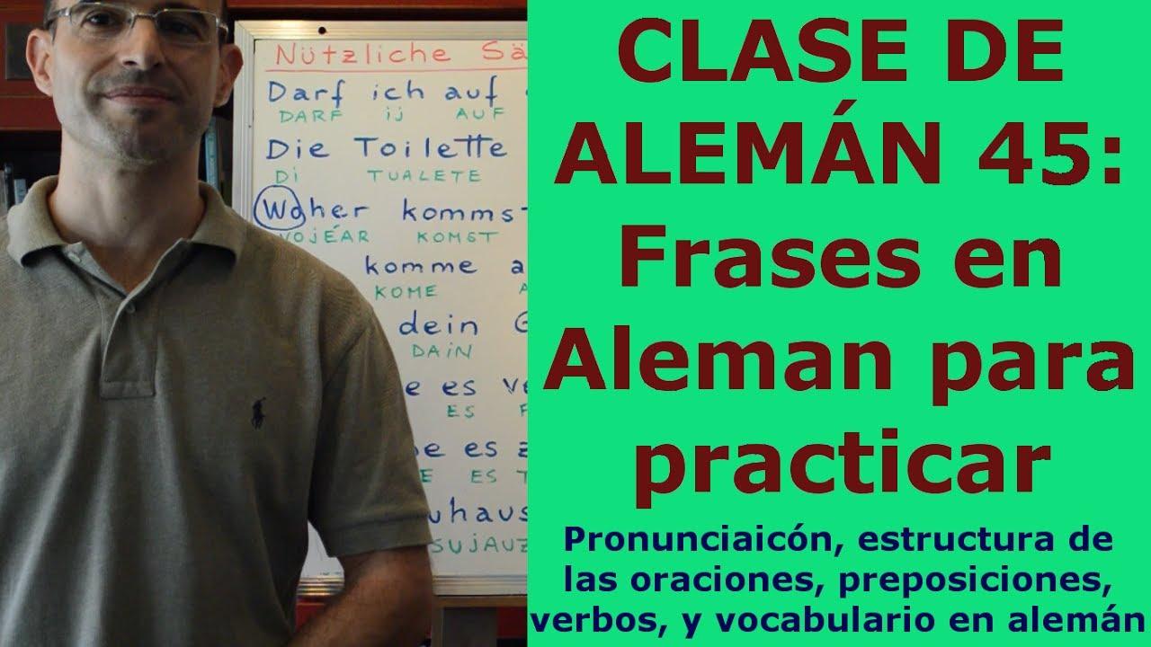Curso De Aleman 45 Frases En Aleman Para Practicar