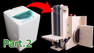 Make a Belt sander @Washing machine motor 【Part.2】