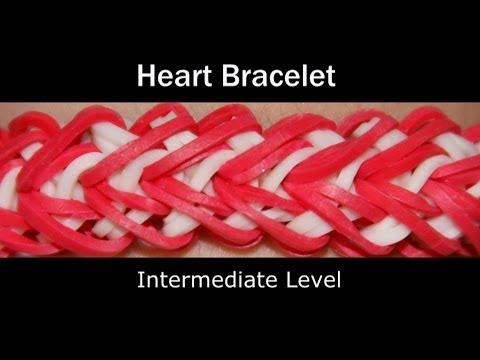 Rainbow Loom® Heart Bracelet Rainbow Loom video