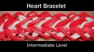 Rainbow Loom® Heart Bracelet Rainbow Loom video