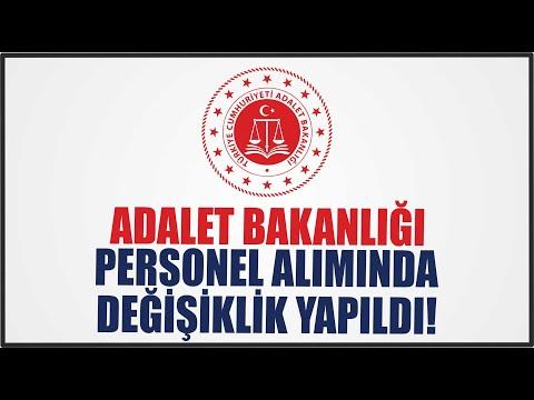 ADALET BAKANLIĞI PERSONEL ALIMINDA DEĞİŞİKLİK YAPILDI !!!