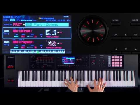 Roland FA-06/FA-07/FA-08 Music Workstation walk-through 2:  Layer/Split Examples