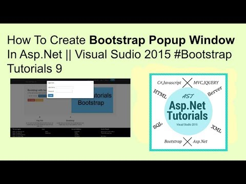 How To Create Bootstrap Popup Window In Asp Net || Visual Sudio 2015 #bootstrap Tutorials 9