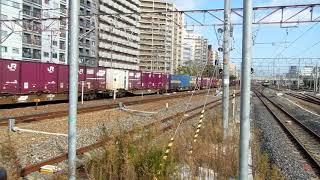 JRおおさか東線国鉄201系折り返し久宝寺行き新大阪駅到着