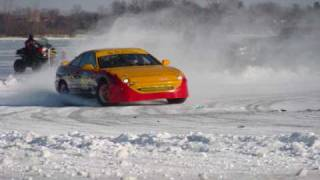 IIRA Ice Race Mankato, MN on Lake Washington
