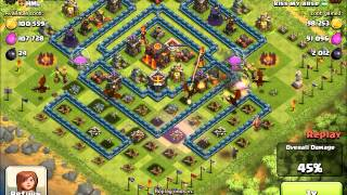 How to beat a max base with all drag attack.... Clash of clans