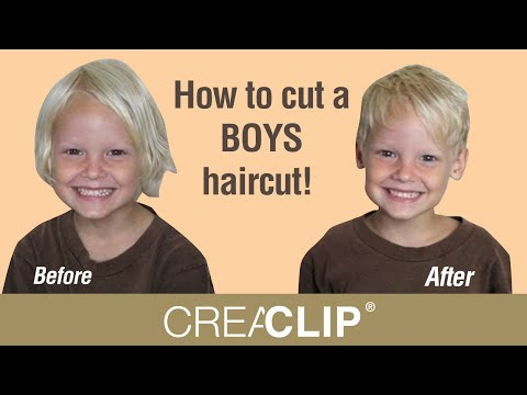 How to cut a BOYS haircut! Easy kids haircutting at home ...