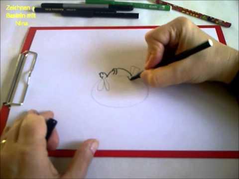 zeichnen lernen f r anf nger einen lustigen hasen auf dem. Black Bedroom Furniture Sets. Home Design Ideas