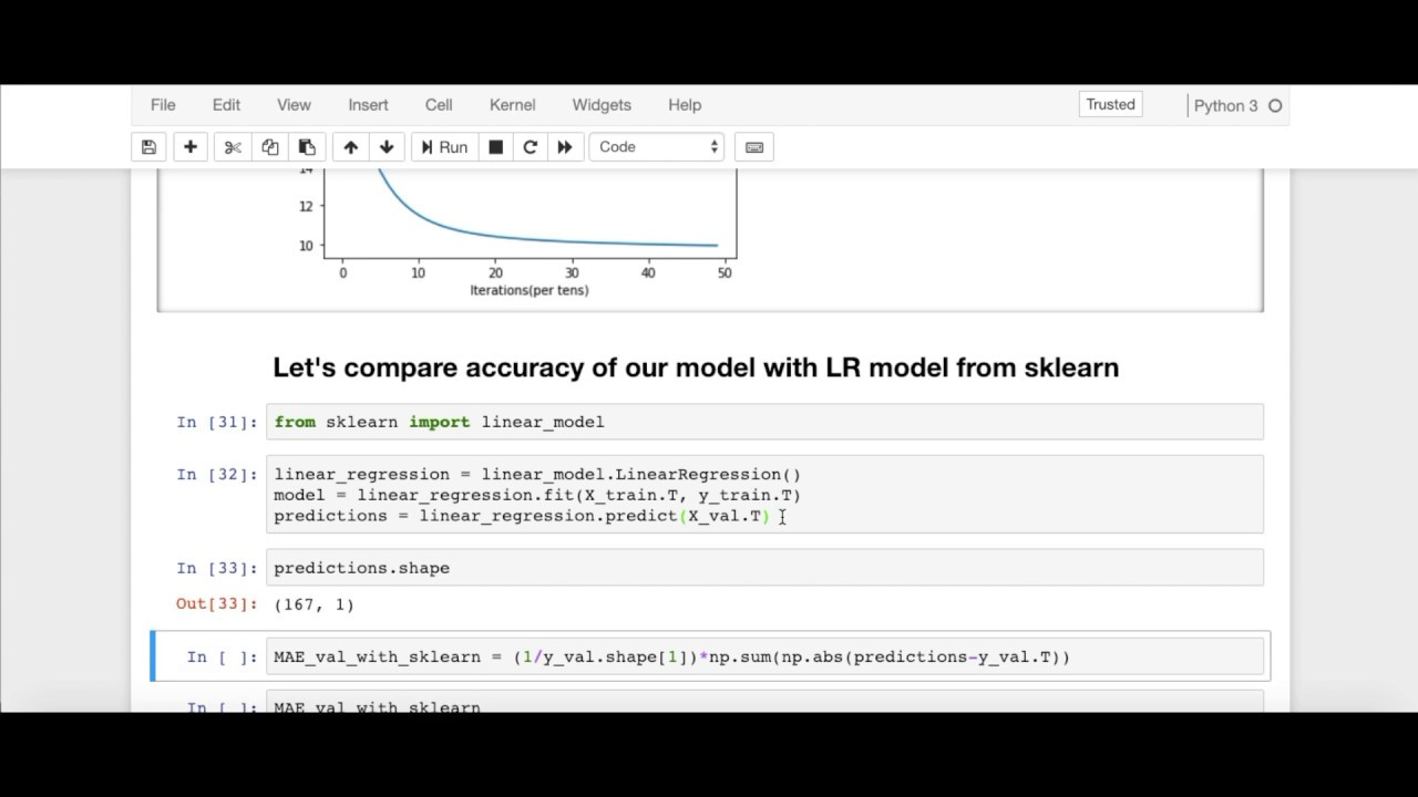 Linear Regression Model in Python from Scratch | Testing Out Model on  Boston House Price Dataset