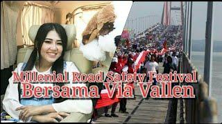 Hebohh.... Via Vallen Meriahkan Acara Millenial Road Safety Festival - Seluruh Indonesia