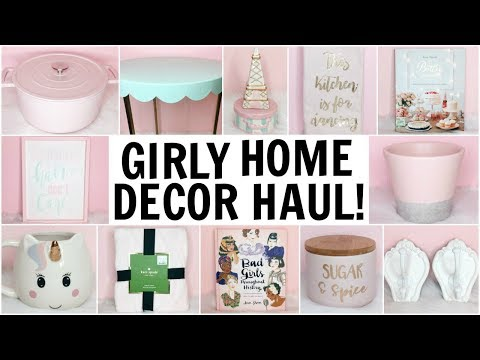 Girly Home Decor Haul ♡ HomeGoods, Target, TJ Maxx, Hobby Lobby & Marshalls