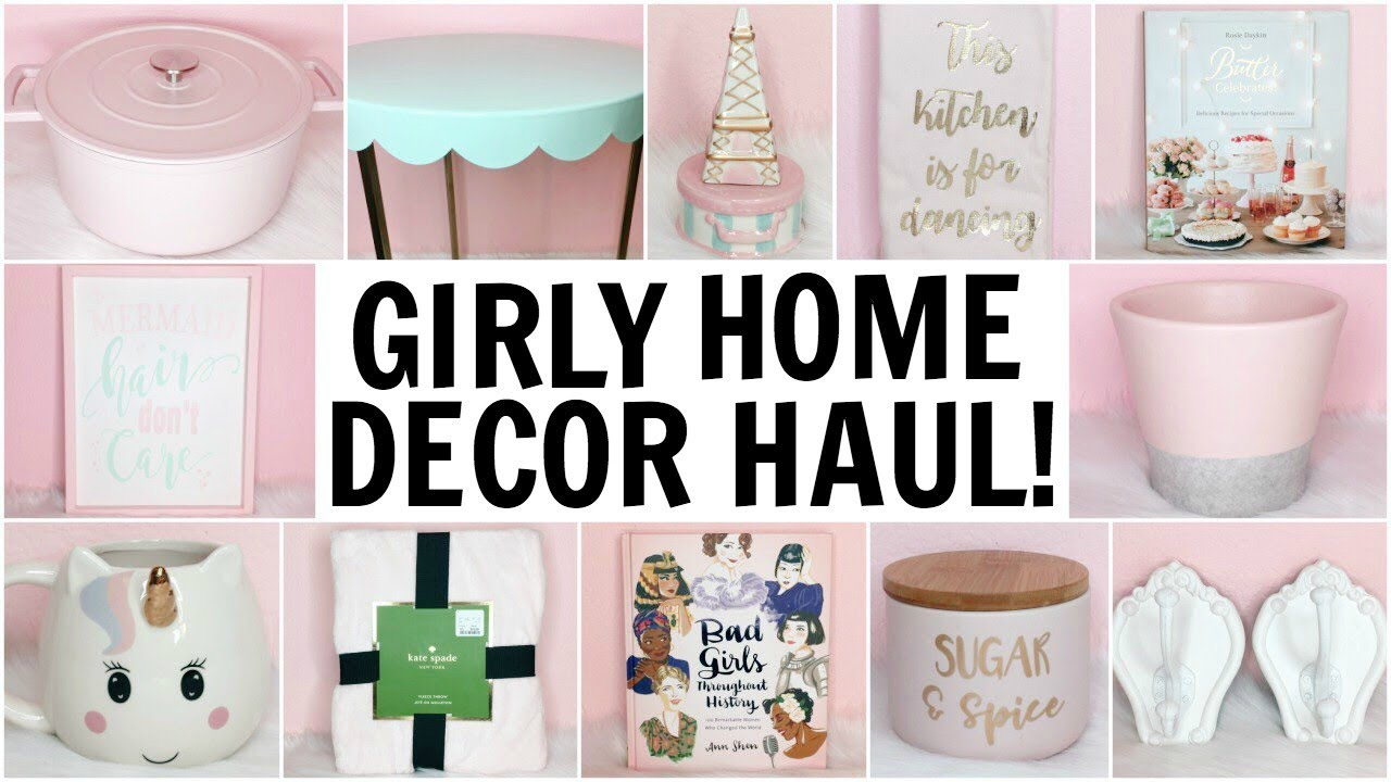 Girly Home Decor Haul Homegoods Target Tj Maxx Hobby