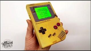 Yellowed and Broken Nintendo Game Boy - Perfect Restoration