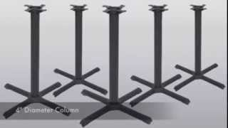 """Cast Iron Table Base 40"""" X Style  - Replacementtablelegs.com"""