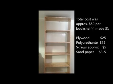 How To Build Quality Bookshelves Or Bookcase For Less Than 50