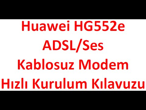 Vodafone limitsiz internet - Huawei HG552E Modem Kurulumu