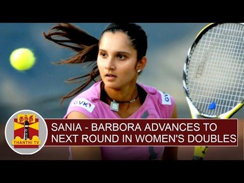 US Open 2016 : Sania Mirza - Barbora advances to next round in Women's Doubles | Thanthi TV