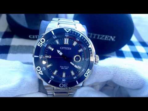 Men's Citizen Eco Drive Endeavor Diver's Sport Watch AW1424 54L