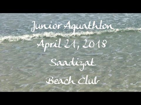 Junior Aquathlon, Saadiyat Beach Club - April 21, 2018