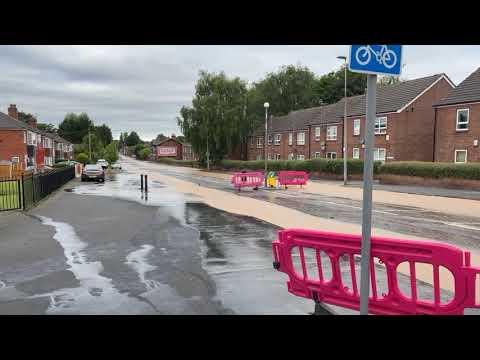 Download 26/06/21 - Water mains burst on Worsley Road in Swinton
