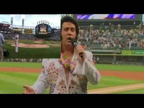 Doug Church - Elvis Tribute Artist sings the National Anthem at Elvis Day