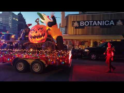 Celebration of the lights parade in downtown El Paso TX 11/18/18