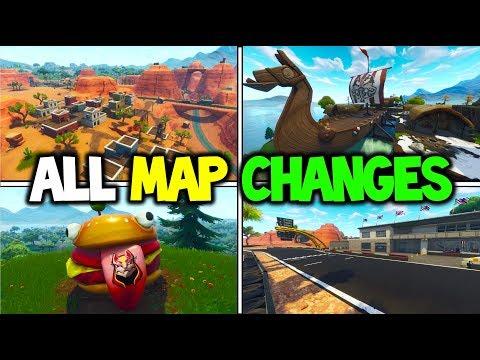 ALL *NEW* MAP CHANGES SEASON 5! DURRR BURGER RETURNS! FORTNITE UPDATE V5 SEASON 5! (Battle Royale)