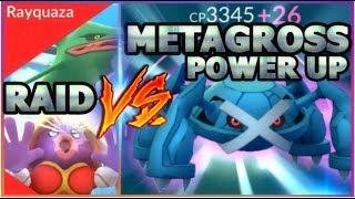 EVOLVING METAGROSS + POWER UP IN POKEMON GO   METAGROSS VS JYNX & RAYQUAZA RAIDS