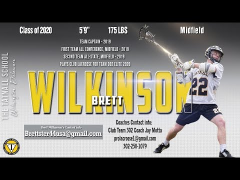 Brett Wilkinson, 2020 The Tatnall School - 2019 Highlights