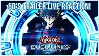 [Yu-Gi-Oh! Duel Links] 5D'S WORLD TRAILER LIVE REACTION & BREAKDOWN! YU-GI-OH 5DS IN DUEL LINKS!