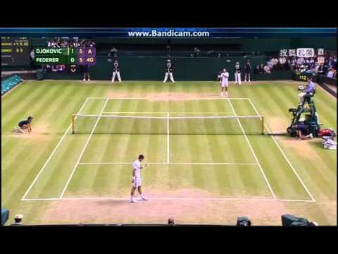 Wimbledon 2015 Gentlemens Single Final Federer vs Djokovic Second set 5;5