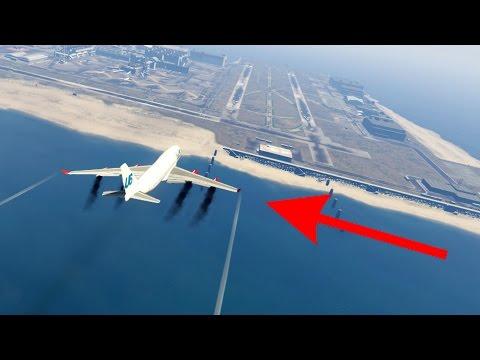ОТКАЗАЛИ ВСЕ ДВИГАТЕЛИ! СЯДЕТ ЛИ БОИНГ-747 БЕЗ ДВИГАТЕЛЕЙ В ГТА 5?